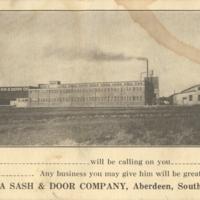 Dakota Sash & Door postcard